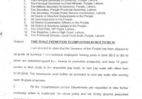 TIME SCALE PROMOTION TO EMPLOYEES IN BS-5 TO BS-16 IN PUNJAB :