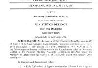 Amendment in Recruitment Rules of Accounts Cadre in PMAD (2017)