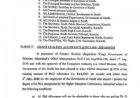 Grant of M.Phil Allowance @ Rs 2500/- Per Month in Sindh