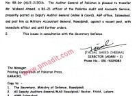 Mr. Waheed Ahmed (B-21) PA&AS Group posted as new Military Accountant General (MAG)