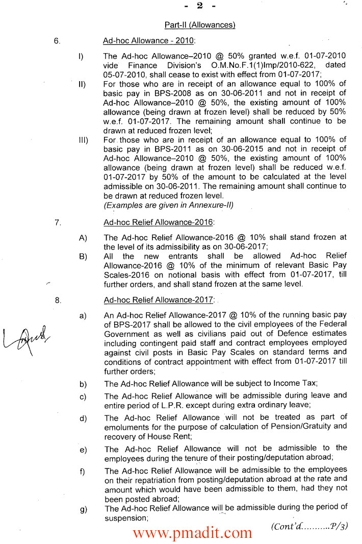 Revision of Basic Pay Scales & Allowances of Civil Servants of the