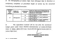 Time Scale Promotion of Stenographers upto BPS-20 for the Employees of Lahore High Court.