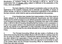 Rules/Policy for Monetization of Transport Facility for Civil Servants (BS-20 TO BS-22)