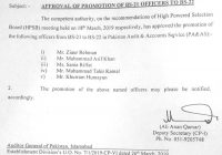 Promotion of BS-21 PA&AS Officers to BS-22 (5x)